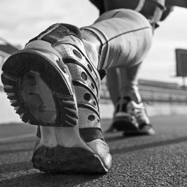 Gros plan sur la chaussure d'un sportif